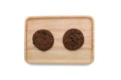 Μπισκότα σοκολάτας με το τσιπ σοκολάτας Στοκ Φωτογραφίες