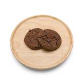 Μπισκότα σοκολάτας με το τσιπ σοκολάτας Στοκ εικόνα με δικαίωμα ελεύθερης χρήσης