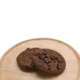 Μπισκότα σοκολάτας με το τσιπ σοκολάτας Στοκ εικόνες με δικαίωμα ελεύθερης χρήσης