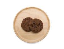 Μπισκότα σοκολάτας με το τσιπ σοκολάτας Στοκ φωτογραφίες με δικαίωμα ελεύθερης χρήσης