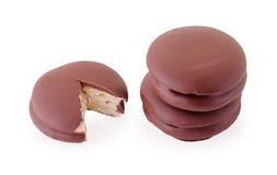 μπισκότα σοκολάτας πιτών choco στο λευκό Στοκ Φωτογραφίες