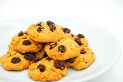 Μπισκότα σταφίδων και δημητριακών Στοκ εικόνες με δικαίωμα ελεύθερης χρήσης