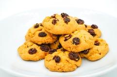 Μπισκότα σταφίδων και δημητριακών Στοκ Εικόνες