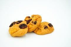 Μπισκότα σταφίδων και δημητριακών Στοκ Φωτογραφίες