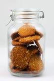 Μπισκότα στο αναδρομικό βάζο γυαλιού Στοκ φωτογραφία με δικαίωμα ελεύθερης χρήσης