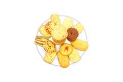 Μπισκότα στο πιάτο Στοκ εικόνα με δικαίωμα ελεύθερης χρήσης