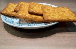 Μπισκότα στο πιάτο Στοκ Εικόνα