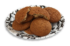Μπισκότα σωρών σε ένα πιάτο Στοκ εικόνα με δικαίωμα ελεύθερης χρήσης