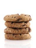 μπισκότα τέσσερα σοκολάτας τσιπ Στοκ Εικόνα