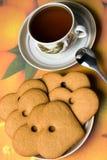 μπισκότα τέσσερα τσάι Στοκ Φωτογραφίες