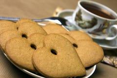 μπισκότα τέσσερα τσάι Στοκ εικόνες με δικαίωμα ελεύθερης χρήσης