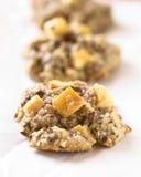 Μπισκότα της Apple, Oatmeal και λιναρόσπορου Στοκ φωτογραφία με δικαίωμα ελεύθερης χρήσης