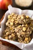 Μπισκότα της Apple, Oatmeal και λιναρόσπορου Στοκ Εικόνες
