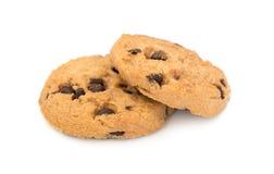 Μπισκότα τσιπ σοκολάτας που απομονώνονται στο λευκό Στοκ φωτογραφία με δικαίωμα ελεύθερης χρήσης