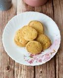 Μπισκότα τυριών αμυγδάλων Στοκ εικόνα με δικαίωμα ελεύθερης χρήσης