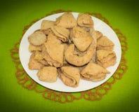 Μπισκότα τυριών εξοχικών σπιτιών με την κανέλα Στοκ Εικόνες