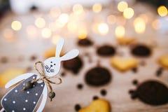 Μπισκότα υπό μορφή καρδιών, τοπ άποψη στοκ φωτογραφία