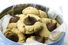 Μπισκότα φιλιών φυστικοβουτύρου Στοκ Εικόνες