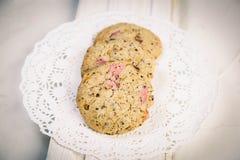 Μπισκότα φραουλών Στοκ Φωτογραφία