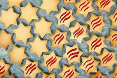 Μπισκότα Χριστουγέννων αστεριών Στοκ εικόνα με δικαίωμα ελεύθερης χρήσης