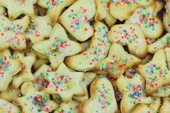 μπισκότα Χριστουγέννων εύ&gam Στοκ Εικόνα