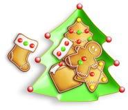 Μπισκότα Χριστουγέννων μελοψωμάτων Στοκ εικόνες με δικαίωμα ελεύθερης χρήσης