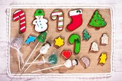Μπισκότα Χριστουγέννων παιδιών στοκ εικόνες