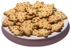Μπισκότα Χριστουγέννων σε ένα πιάτο Στοκ φωτογραφία με δικαίωμα ελεύθερης χρήσης
