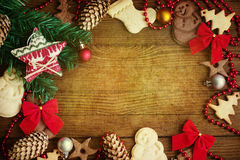 Μπισκότα Χριστουγέννων υποβάθρου Στοκ Εικόνα