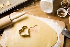 μπισκότα Χριστουγέννων ψη&sig Στοκ φωτογραφίες με δικαίωμα ελεύθερης χρήσης