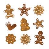 Μπισκότα Χριστουγέννων απεικόνιση αποθεμάτων