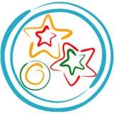 μπισκότα Χριστουγέννων lineart Στοκ εικόνα με δικαίωμα ελεύθερης χρήσης