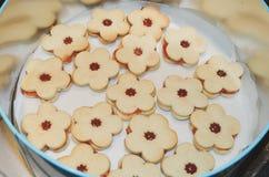 Μπισκότα Χριστουγέννων linzer στοκ φωτογραφίες με δικαίωμα ελεύθερης χρήσης