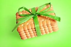Μπισκότα δώρων Στοκ εικόνες με δικαίωμα ελεύθερης χρήσης