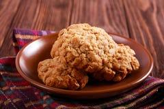 Μπισκότα Anzac - παραδοσιακά κέικ βρωμών και καρύδων Στοκ Φωτογραφίες