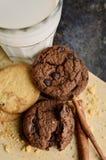 Μπισκότα Chocochip με την κανέλα Στοκ Εικόνα