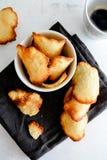 Μπισκότα Tuile Γαλλικά μπισκότα tuile Στοκ Εικόνες