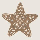 Μπισκότο αστεριών Χριστουγέννων Στοκ φωτογραφία με δικαίωμα ελεύθερης χρήσης