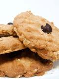 Μπισκότο βρωμών τσιπ σοκολάτας που απομονώνεται Στοκ εικόνες με δικαίωμα ελεύθερης χρήσης