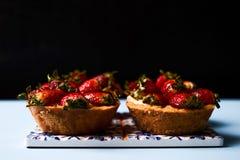 Μπισκότο κέικ Tartlet ή κέικ καλαθιών Στοκ εικόνα με δικαίωμα ελεύθερης χρήσης