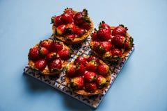 Μπισκότο κέικ Tartlet ή κέικ καλαθιών Στοκ Φωτογραφίες