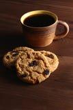 Μπισκότο και καφές μπισκότων Στοκ Φωτογραφίες