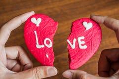 Μπισκότο καρδιών Brocken Στοκ Εικόνα