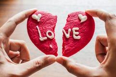 Μπισκότο καρδιών Brocken Στοκ εικόνα με δικαίωμα ελεύθερης χρήσης