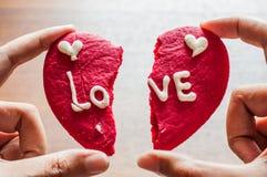 Μπισκότο καρδιών Brocken Στοκ Εικόνες