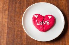 Μπισκότο καρδιών Brocken Στοκ Φωτογραφίες