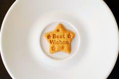 Μπισκότο καλύτερων ευχών Στοκ φωτογραφία με δικαίωμα ελεύθερης χρήσης