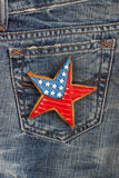 Μπισκότο με τα αμερικανικά πατριωτικά χρώματα στην τσέπη Στοκ εικόνες με δικαίωμα ελεύθερης χρήσης