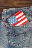 Μπισκότο με τα αμερικανικά πατριωτικά χρώματα στην τσέπη Στοκ φωτογραφίες με δικαίωμα ελεύθερης χρήσης