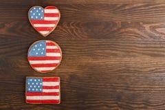 Μπισκότο με τα αμερικανικά πατριωτικά χρώματα Στοκ φωτογραφία με δικαίωμα ελεύθερης χρήσης